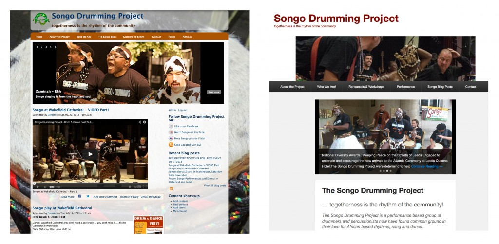 The Old and New style Songo website