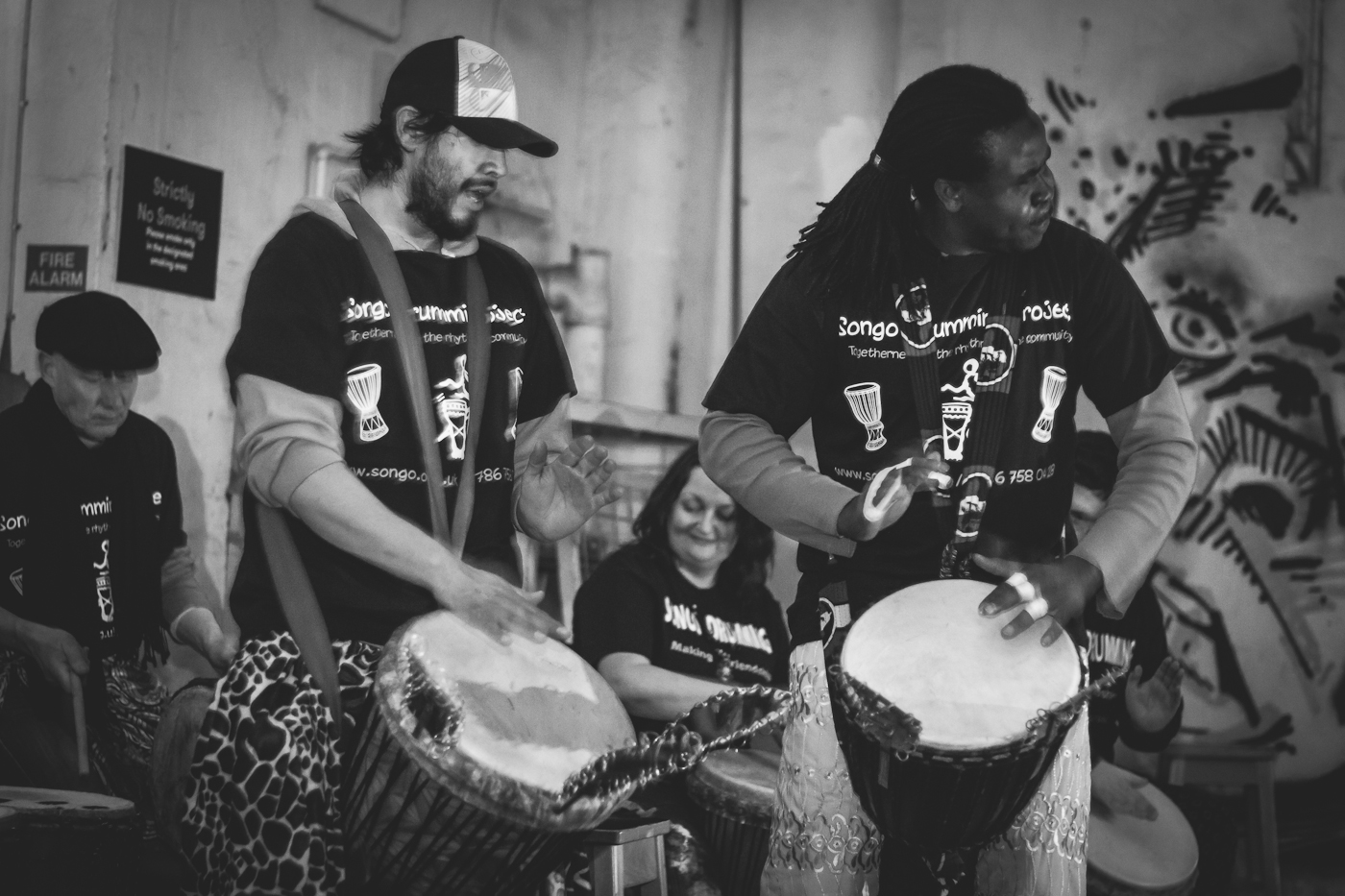 Together we're stronger just as SONGO drummers